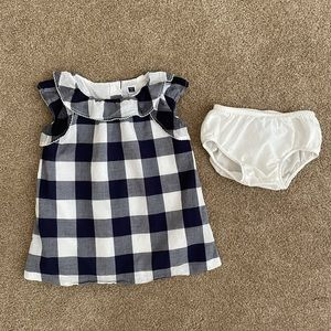 Janie and Jack Navy and White Checkered Dress